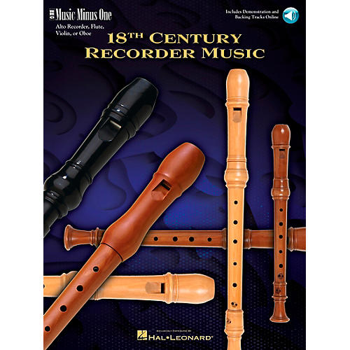 Music Minus One 18th Century Recorder Music (Deluxe 2-CD Set) Music Minus One Series Softcover with CD by Various-thumbnail