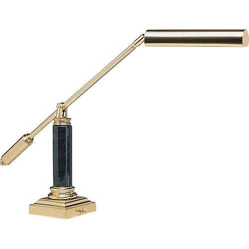 House of Troy #19161 Polished Brass/Black Marble Grand Piano Lamp-thumbnail