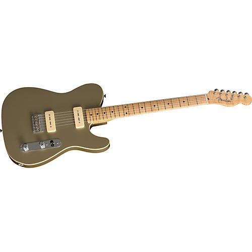 Fender Custom Shop 1950's Double Bound Custom Telecaster NOS Shoreline Gold Electric Guitar-thumbnail