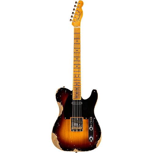 Fender Custom Shop 1951 Heavy Relic Telecaster Maple Fingerboard Electric Guitar Faded 2-Color Sunburst