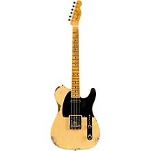 1951 Heavy Relic Telecaster Maple Fingerboard Electric Guitar Faded Nocaster Blonde