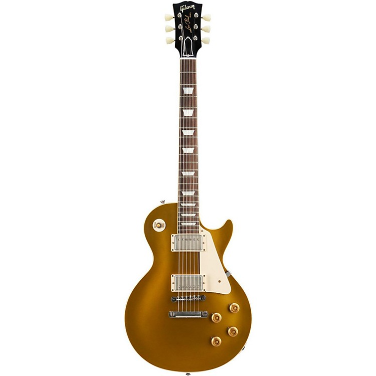 Gibson Custom 1954 Les Paul Standard Historic Reissue Goldtop VOS Antique Gold