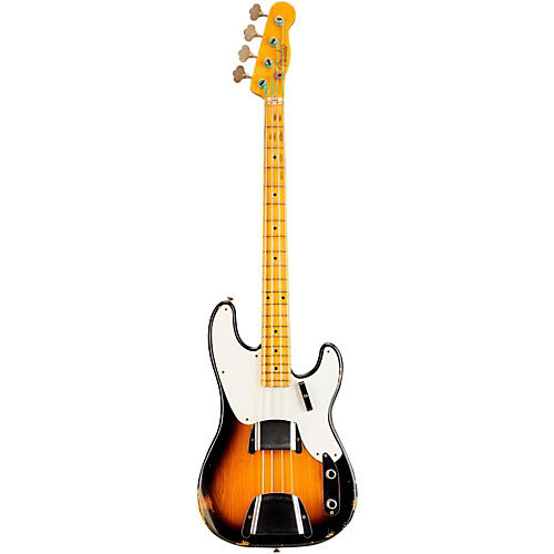 Fender Custom Shop 1955 Limited Edition Relic Precision Bass Electric Guitar-thumbnail