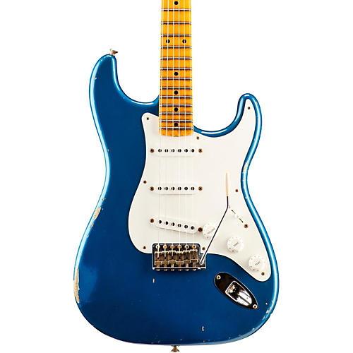 Fender Custom Shop 1955 Relic Stratocaster Electric Guitar Aged Lake Placid Blue