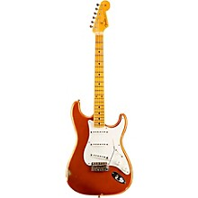 1955 Relic Stratocaster Electric Guitar Faded Candy Tangerine