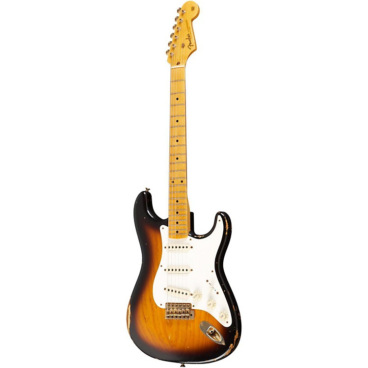 Fender Custom Shop1955 Stratocaster Relic Ash Electric Guitar Masterbuilt by Dale Wilson2 Color Sunburst
