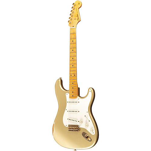 Fender Custom Shop 1955 Stratocaster Relic Ash Electric Guitar Masterbuilt by Dale Wilson Gold