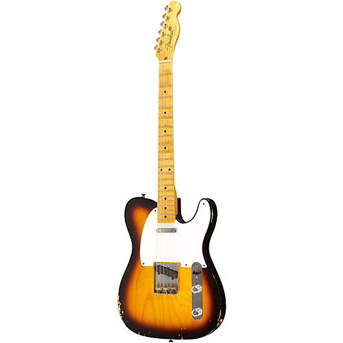 Fender Custom Shop 1955 Telecaster Relic Ash Electric Guitar Masterbuilt by Dale Wilson 2 Color Sunburst