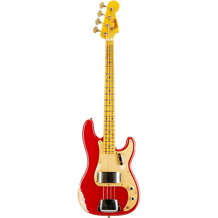 Fender Custom Shop 1957 Precision Bass Heavy Relic Electric Bass Guitar Dakota Red