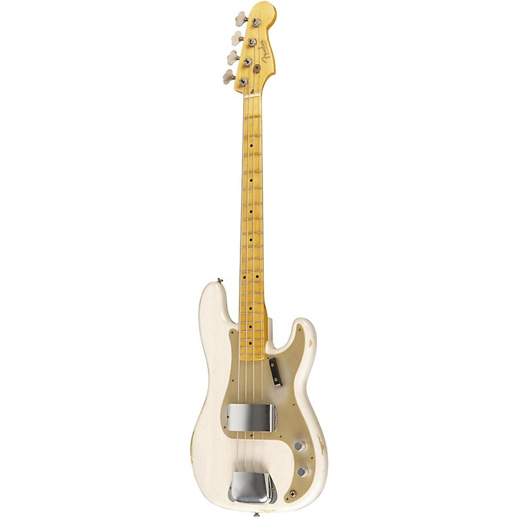 Fender Custom Shop 1957 Precision Bass Relic Electric Bass Guitar Masterbuilt by Dale Wilson Transparent White Blonde