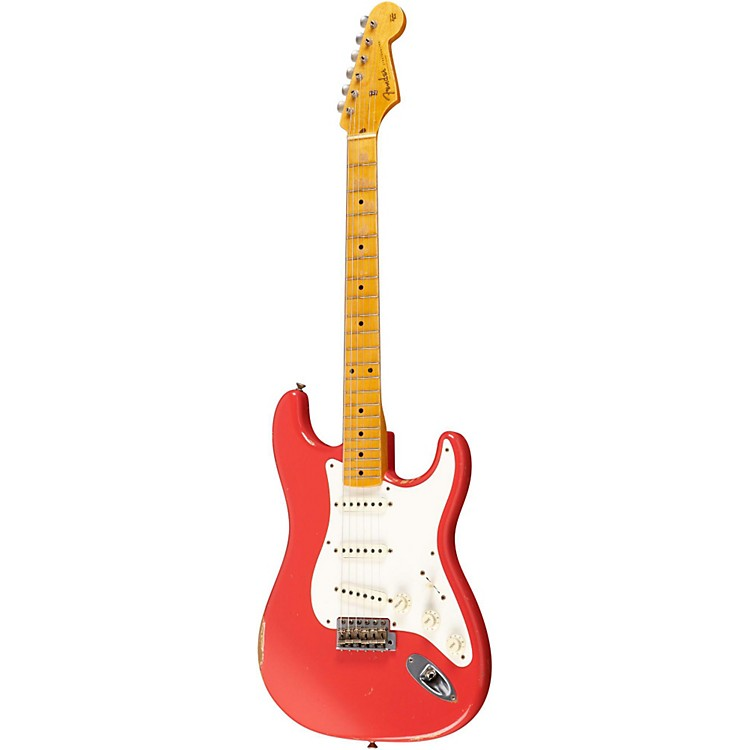 Fender Custom Shop 1957 Stratocaster Relic Electric Guitar Master Built by Dale Wilson Fiesta Red