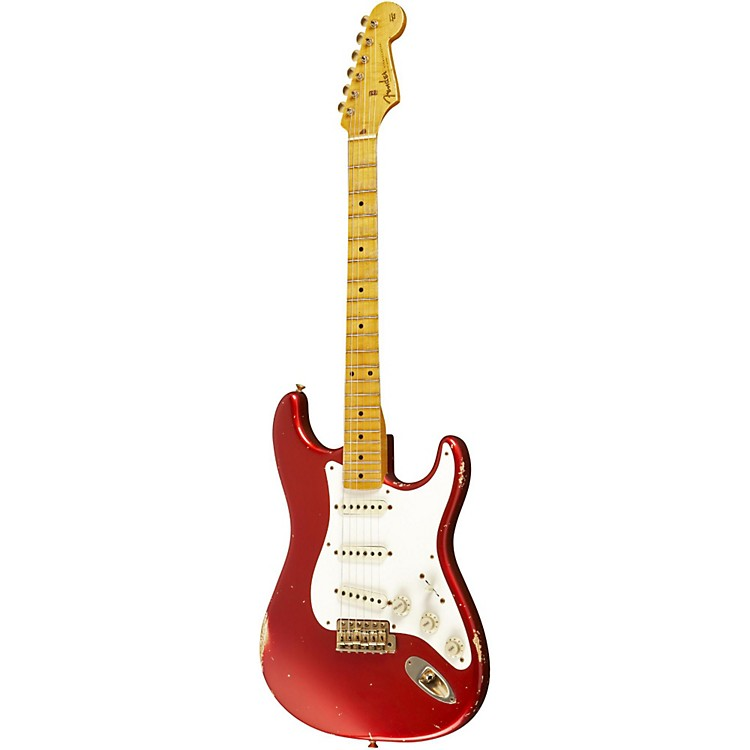 Fender Custom Shop 1957 Stratocaster Relic Gold Hardware Electric Guitar Master Built by Dale Wilson Candy Apple Red