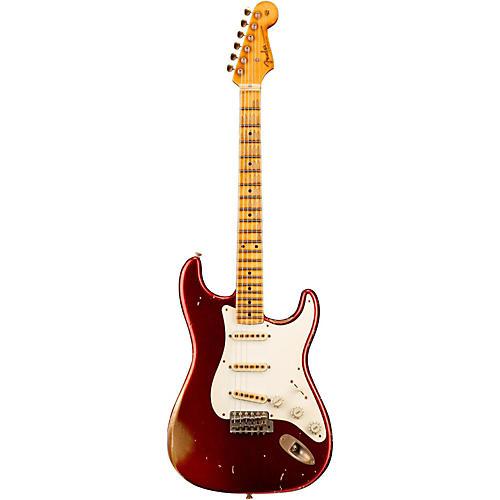 Fender Custom Shop 1957 Stratocaster Relic Gold Hardware Masterbuilt by John Cruz Candy Apple Red