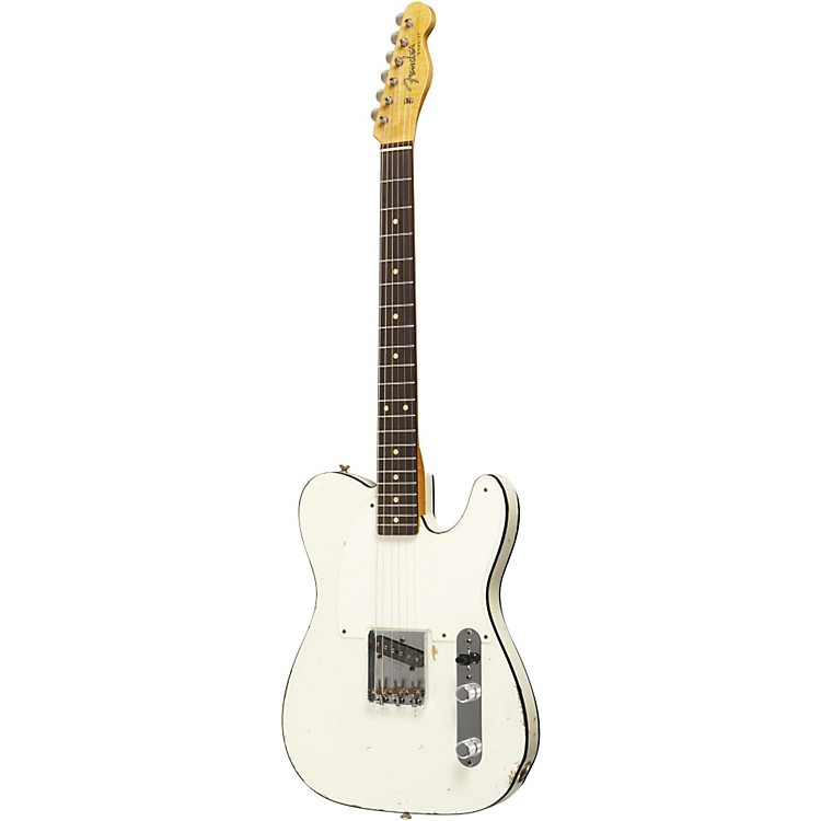 Fender Custom Shop 1959 Esquire Custom Relic Electric Guitar Masterbuilt by Dale Wilson Olympic White