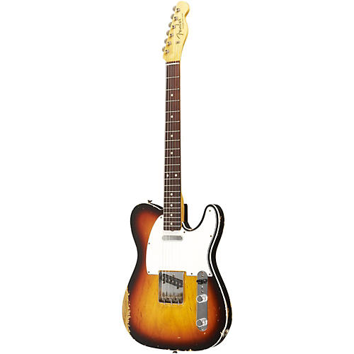 Fender Custom Shop 1959 Telecaster Custom Relic Electric Guitar Masterbuilt by Dale Wilson Trans 3 Color Snbrst Faded to Trans 2 Color Snbrst