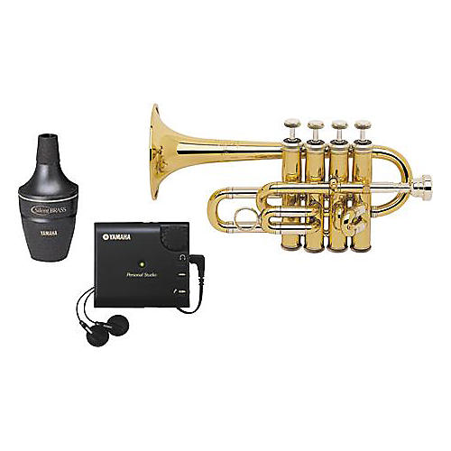 Bach 196 Piccolo Trumpet with Yamaha Silent Brass Package-thumbnail