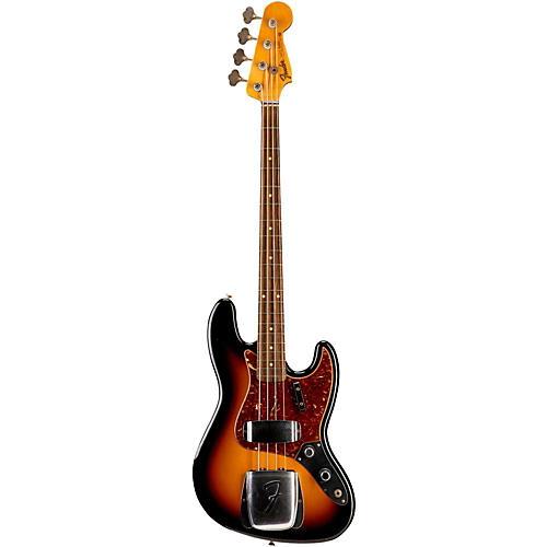 Fender Custom Shop 1960 Jazz Bass Journeyman Relic Electric Bass Guitar Faded 3-Color Sunburst
