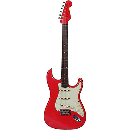 Fender Custom Shop 1960 Relic Stratocaster with Matching Headstock Electric Guitar Fiesta Red