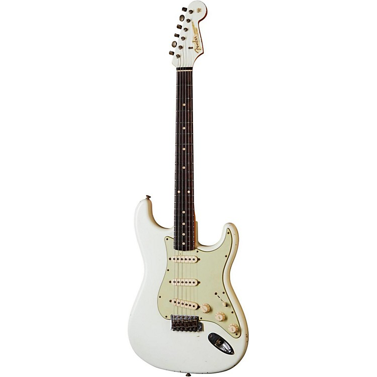 Fender Custom Shop1960 Stratocaster Relic with Matching Headstock Electric GuitarOlympic White with Matching Painted HeadstockRosewood Fretboard