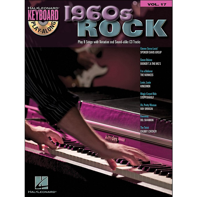 Hal Leonard 1960S Rock Keyboard Play- Along Volume 17 Book/CD