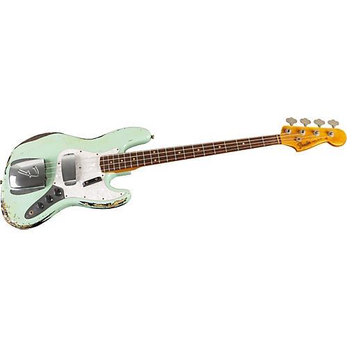 Fender Custom Shop 1960s Jazz Bass Heavy Relic Surf Green over 3-Tone Sunburst