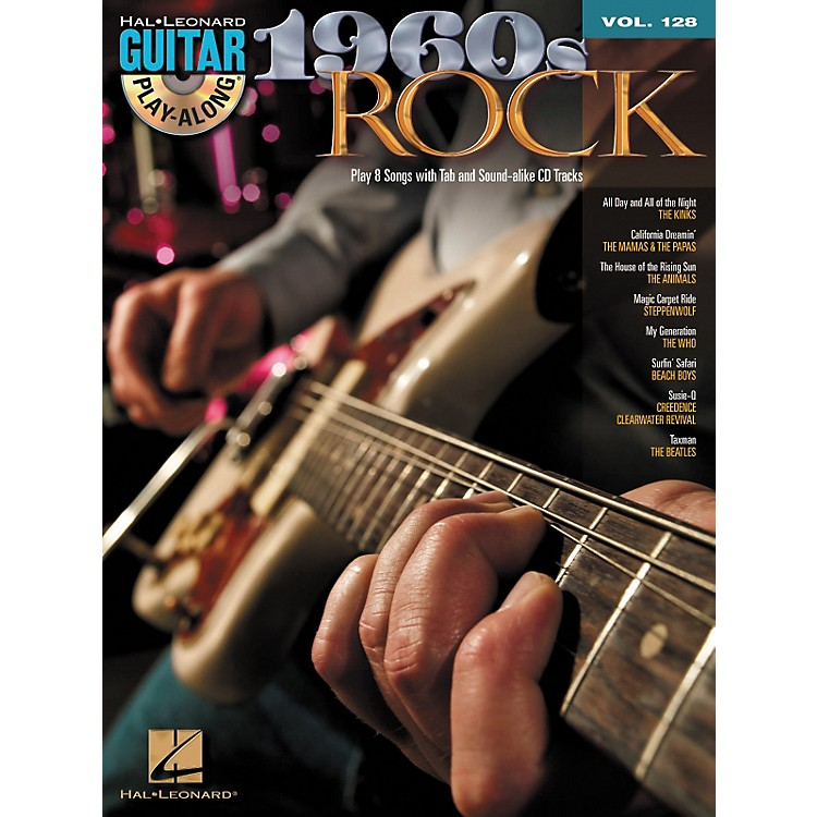 Hal Leonard 1960's Rock - Guitar Play-Along Volume 128 (Book/CD)