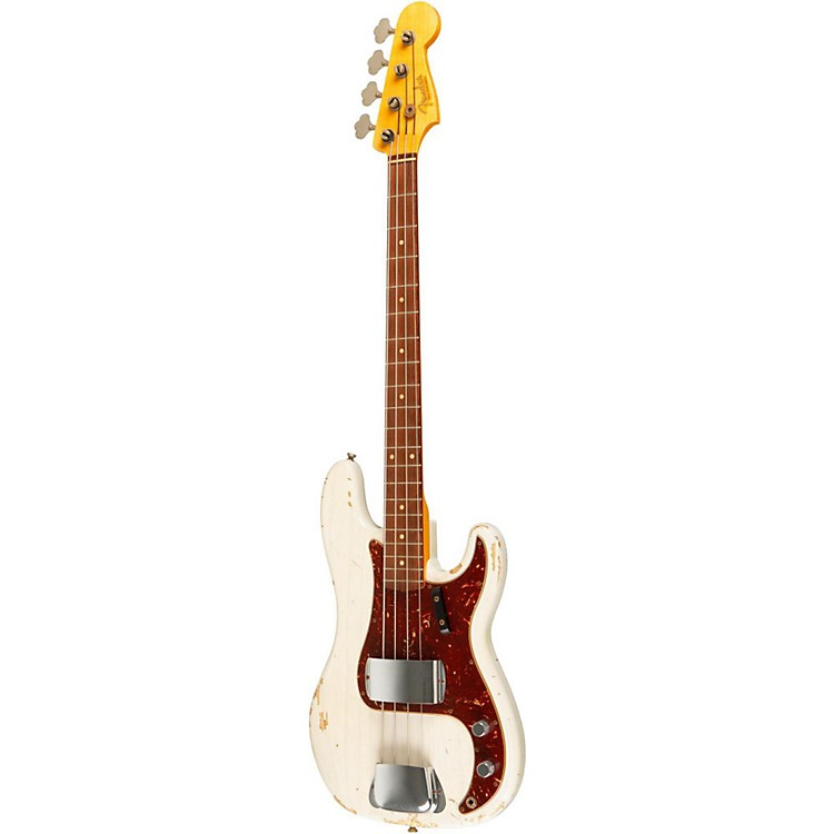 Fender Custom Shop 1961 P Bass Relic 4-String Electric Bass White Blonde