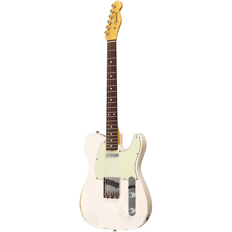 Fender Custom Shop 1961 Telecaster Relic Ash Electric Guitar Master Built by Dale Wilson Transparent White Blonde