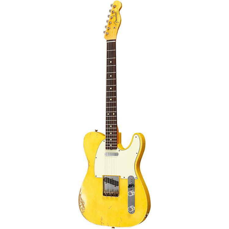 Fender Custom Shop 1961 Telecaster Relic Electric Guitar Masterbuilt by Dale Wilson Transparent Yellow