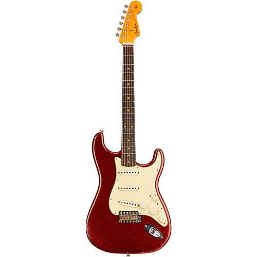 Fender Custom Shop 1962 Heavy Relic Stratocaster Electric Guitar Aged Red Sparkle