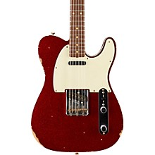 1962 Relic Telecaster Rosewood Fingerboard Electric Guitar Red Sparkle