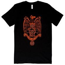 Ernie Ball 1962 Strings and Things Orange Font T-Shirt Small Black