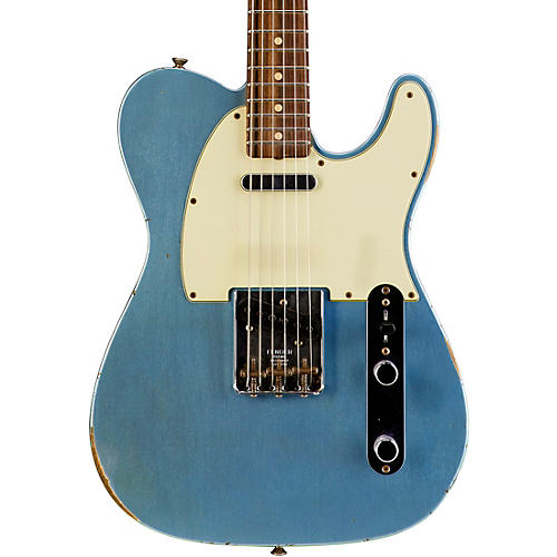 Fender Custom Shop 1963 Relic Telecaster Electric Guitar Blue Ice Metallic Rosewood