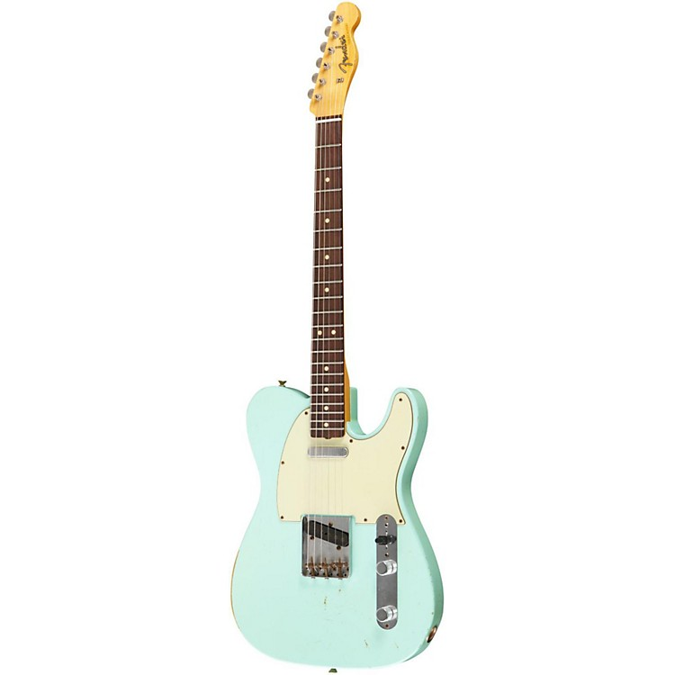 Fender Custom Shop 1963 Telecaster Relic Modified Electric Guitar Surf Green