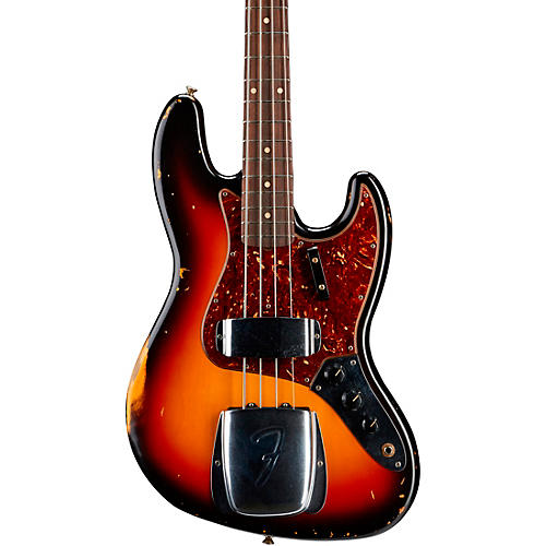 Fender Custom Shop 1964 Jazz Bass Relic Guitar 3-Color Sunburst