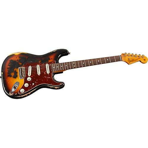 Fender Custom Shop 1965 Stratocaster Burnt Heavy Relic Electric Guitar