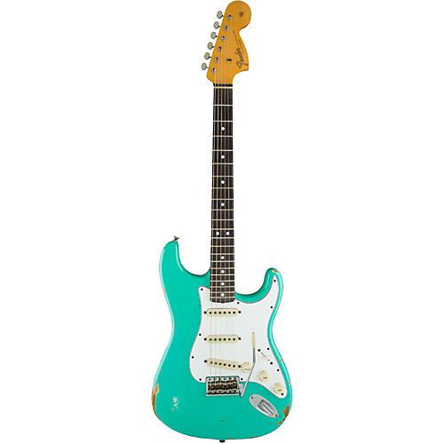 Fender Custom Shop 1967 Heavy Relic Stratocaster Rosewood Fingerboard Electric Guitar Sea Foam Green