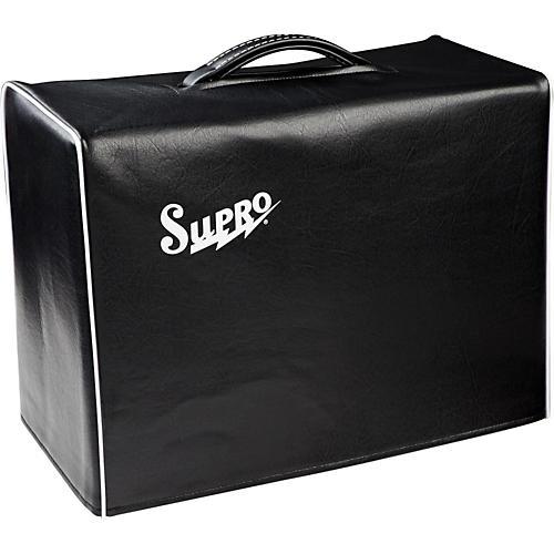 Supro 1x10 Black Vinyl Amp Cover with Logo-thumbnail