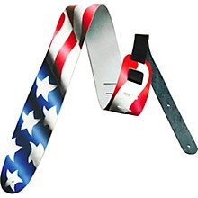 "Perri's 2-1/2"" Leather Airbrushed Guitar Strap USA"