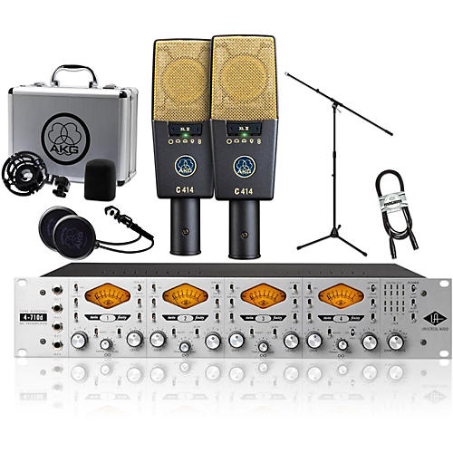 AKG 2 C414 XL II with UA 4710D Package-thumbnail