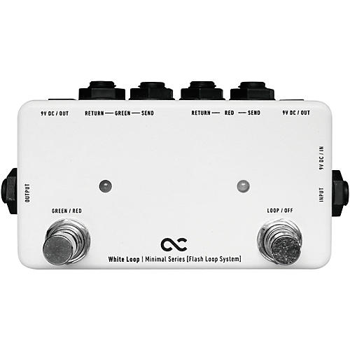 One Control 2-Channel White Loop Flash Switcher with True Bypass Pedal-thumbnail