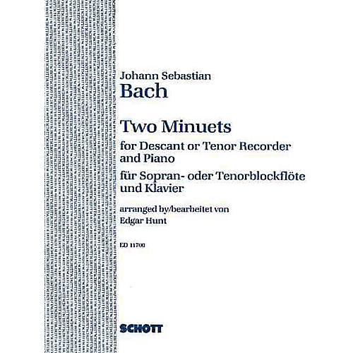 Schott 2 Minuets (Soprano or Tenor Recorder and Piano) Schott Series-thumbnail