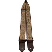 "Perri's 2"" Nylon Webbing Guitar Strap with Leather Ends"