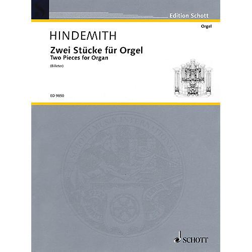 Schott 2 Pieces for Organ (1918) Schott Series-thumbnail