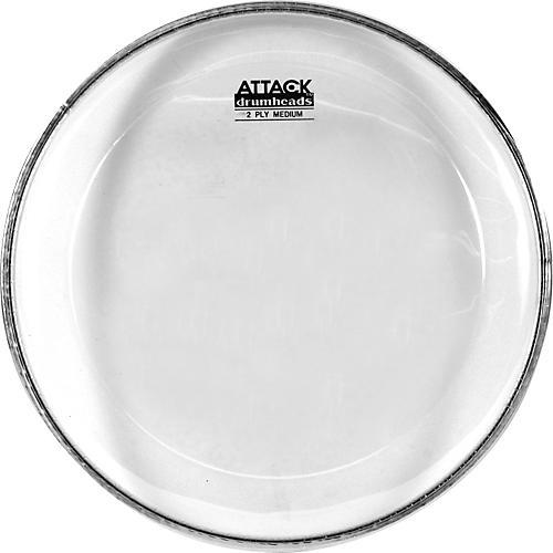 Attack 2-Ply Medium Clear Drumhead  12