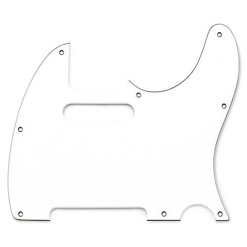 Musician's Gear 2 Single-Coil Tele Pickguard White