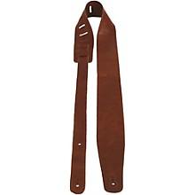 "Perri's 2"" Soft Italian Leather Guitar Strap Mogano Tan 2.5 in."