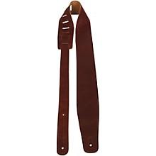 "Perri's 2"" Soft Italian Leather Guitar Strap Notte Rust 2.5 in."