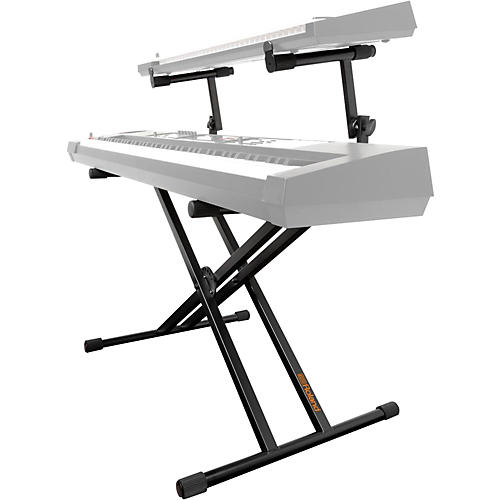 roland 2 tier double x braced keyboard stand black musician 39 s friend. Black Bedroom Furniture Sets. Home Design Ideas