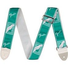 Fender 2 inch Custom Color Fender Monogrammed Strap Sea Foam Green